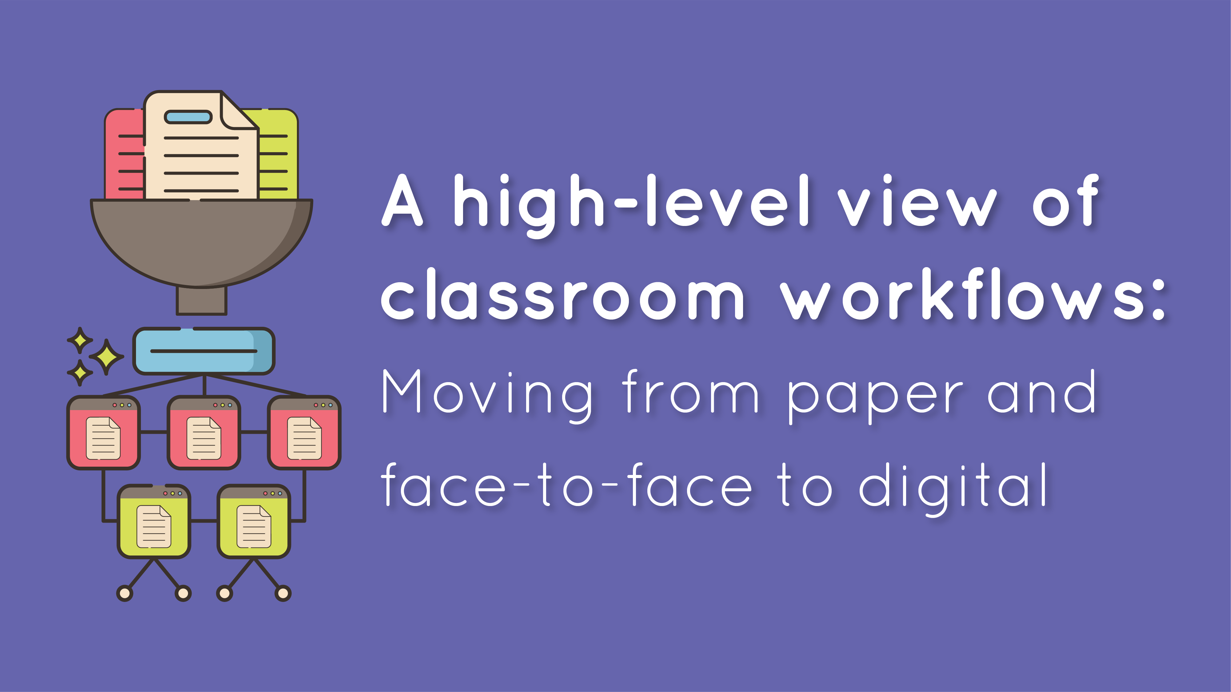 A high-level view of classroom workflows